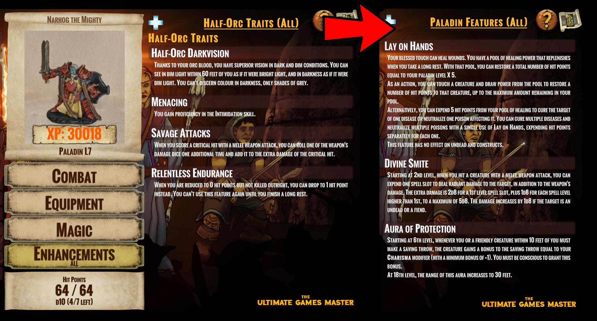 Character Sheet Enhancements