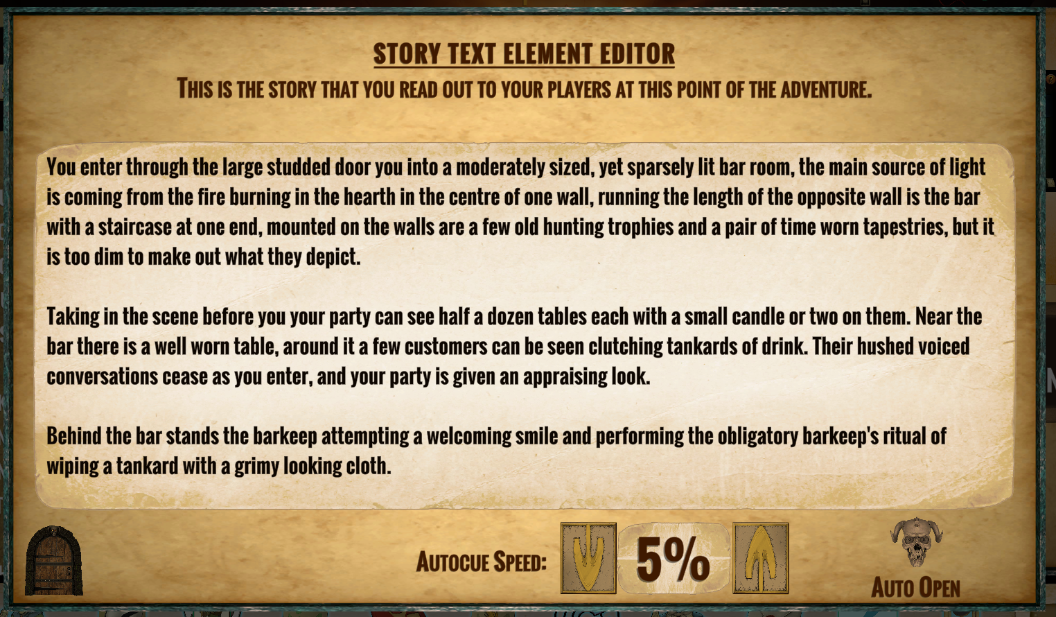 Story Text Editor