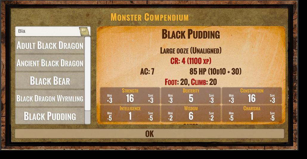 The Monster Compendium